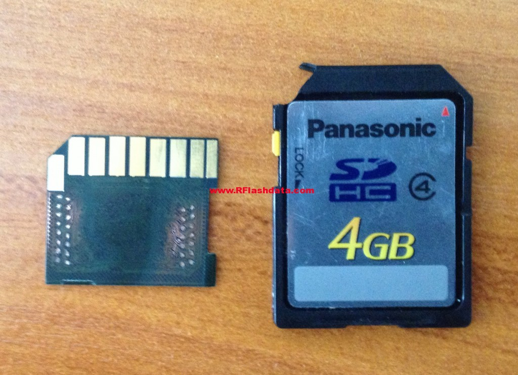 Data recovery on sd memory card